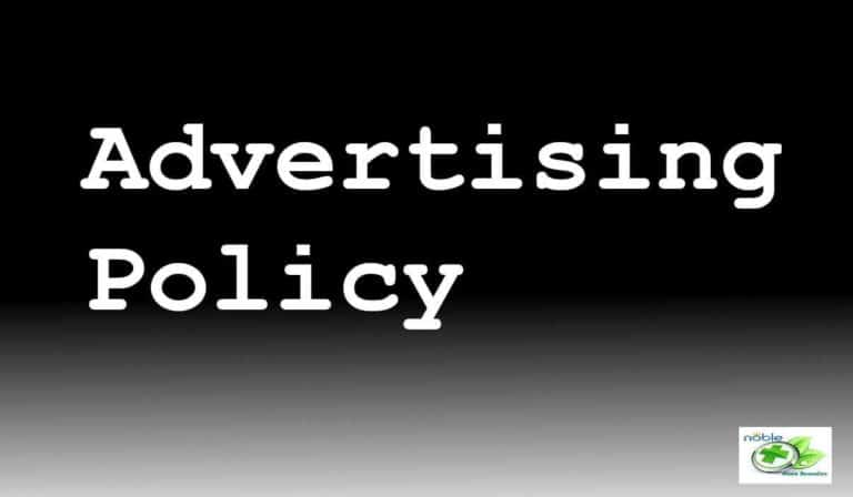 Advertising Policy of Noble Home Remedies
