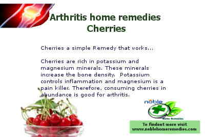 Cherries home remedy for Arthritis