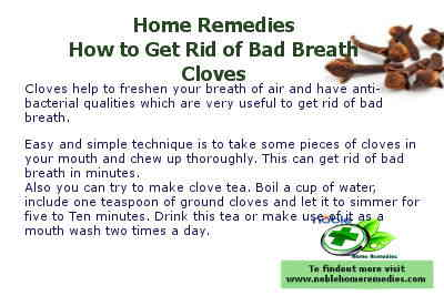 Cloves - How to Get Rid of Bad Breath - Home Remedies