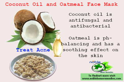 Coconut Oil and Oatmeal Face Mask for Acne