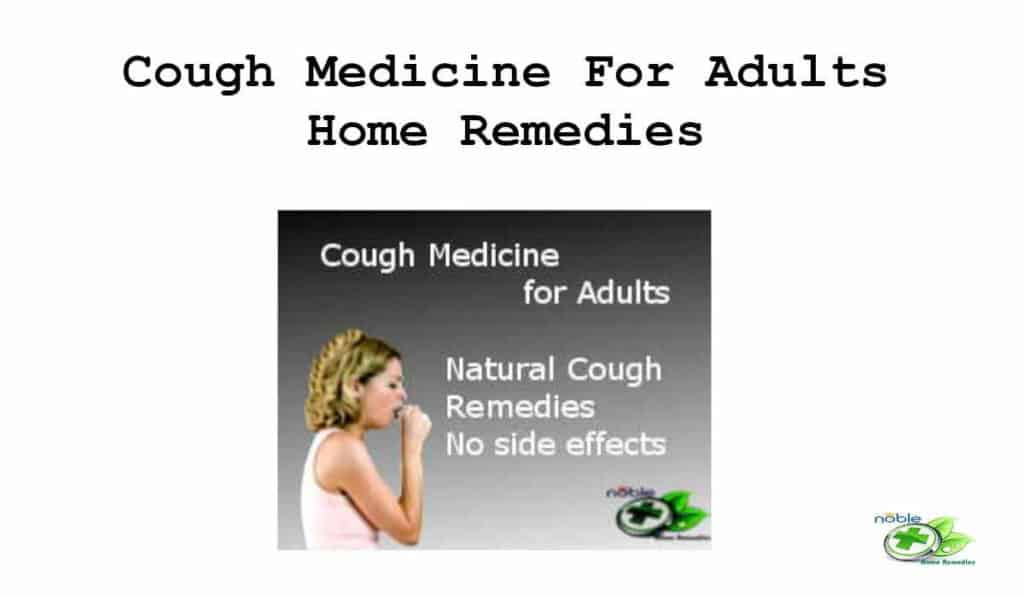 Cough Medicine For Adults
