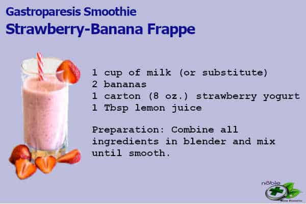 Meal replacement smoothies for Gastroparesis