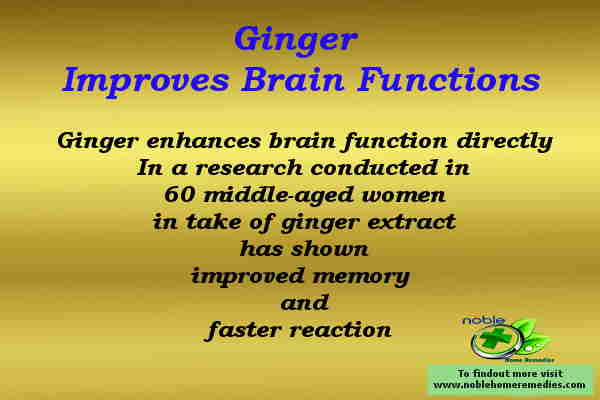 Ginger Improves Brain Functions