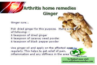 Ginger home remedy for arthritis
