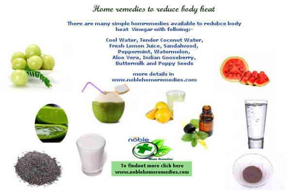 Home remedies to reduce body heat