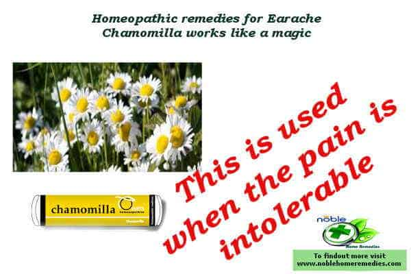 Homeopathic Remedies for Earache - Chamomilla