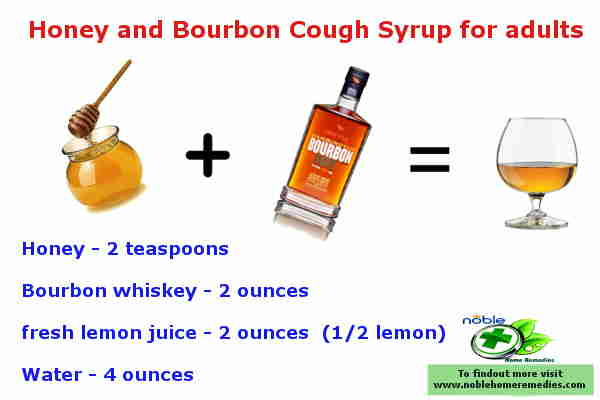 Honey and Bourbon Cough Syrup for adults