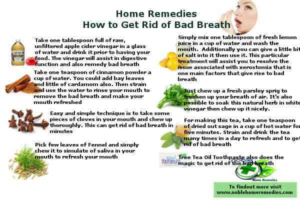 How to Get Rid of Bad Breath - Home remedies Guide