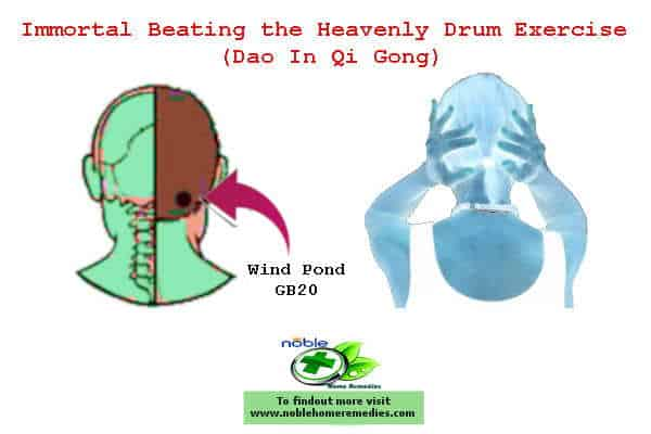 Immortal Beating the Heavenly Drum Exercise - Dao In Qi Gong - for hearing loss