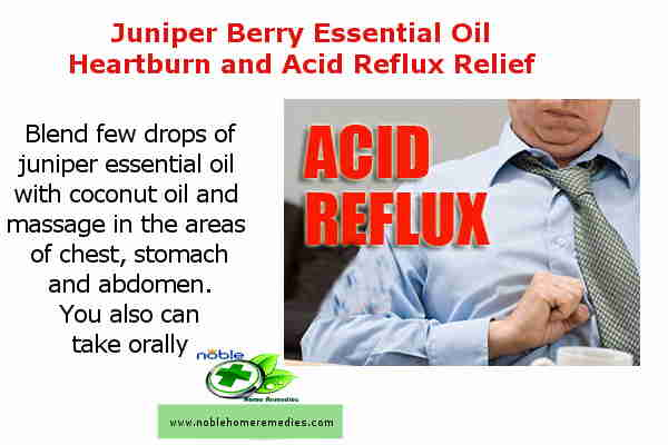 Juniper Berry Essential Oil Heartburn and Acid Reflux Relief