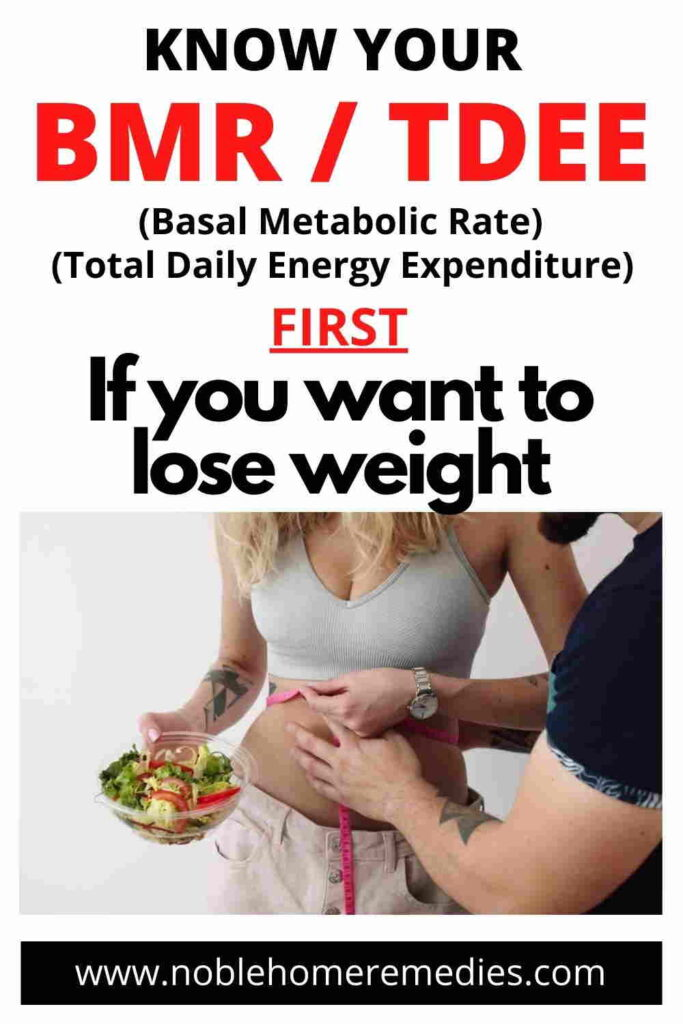 Find out your BMR and TDEE first to plan your weight loss program.