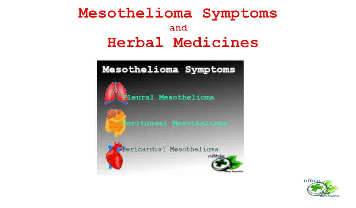 Mesothelioma Symptoms and Herbal Medicines