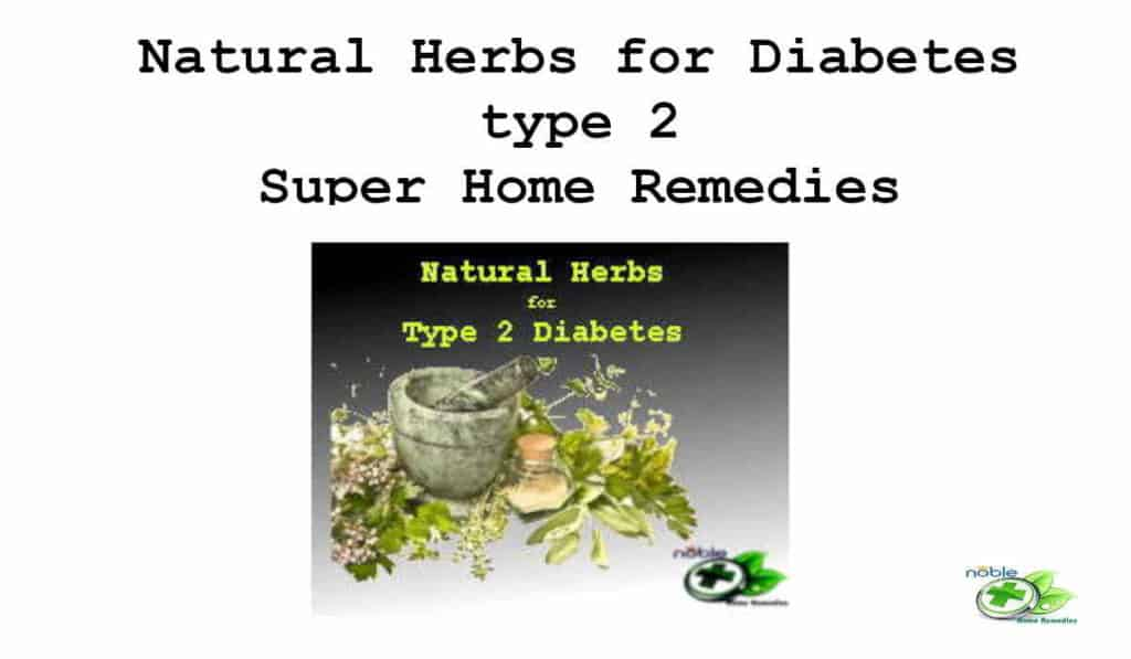 Natural Herbs for Diabetes type 2