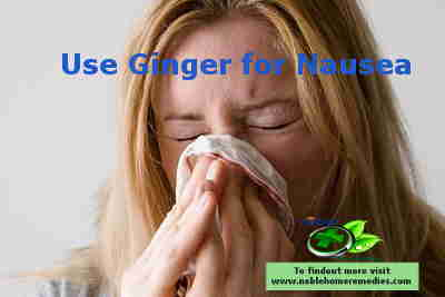 Nausea treatment with Ginger
