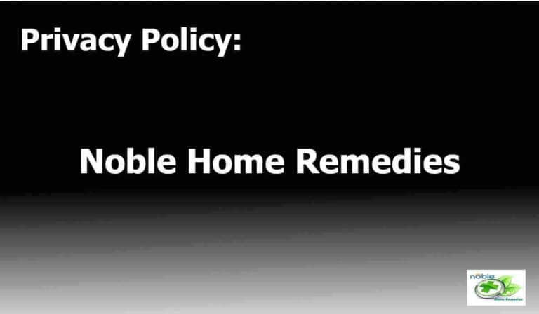 Privacy Policy - Noble Home Remedies