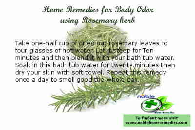 Rosemary herb - Home Remedies for Body Odor