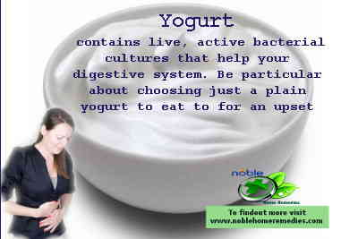 Take plain yogurt to cure an upset stomach