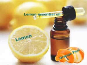 Teeth Whitening with Lemon, Orange Peels, and Lemon essential oil