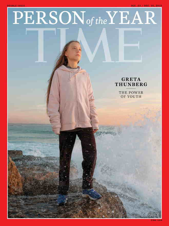 Time magazine Cover page with Greta Thunberg