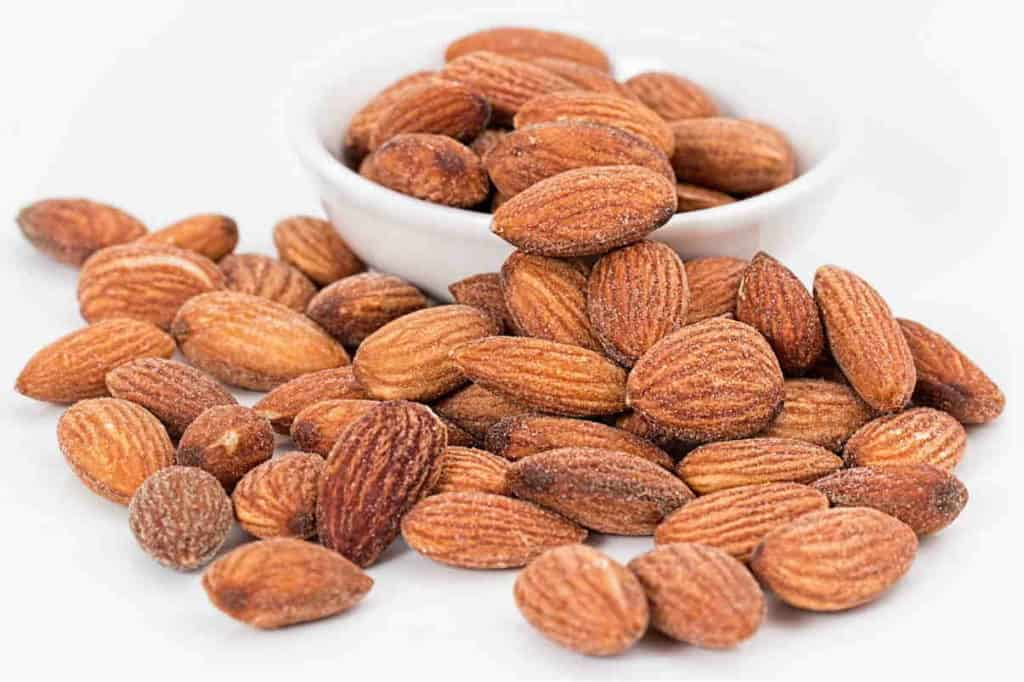 almond oil works great on dry skin