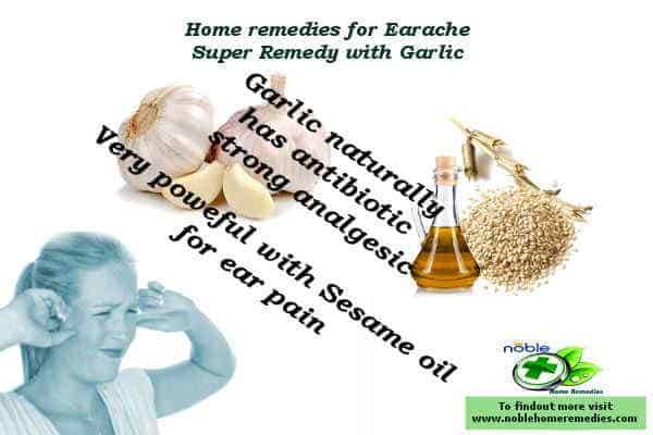 home remedy earache - Garlic