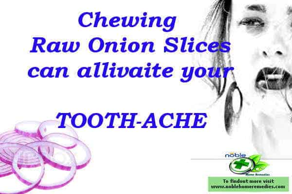 the best natural pain relief for toothache - chew onion