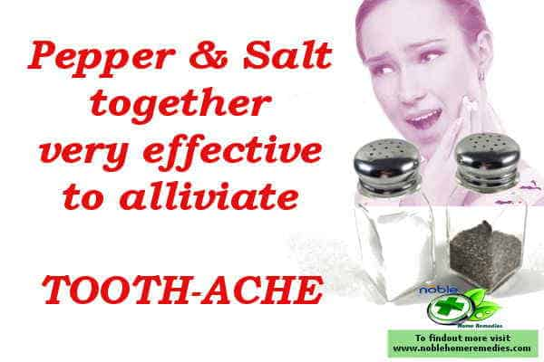 the best natural pain relief for toothache - pepper and salt